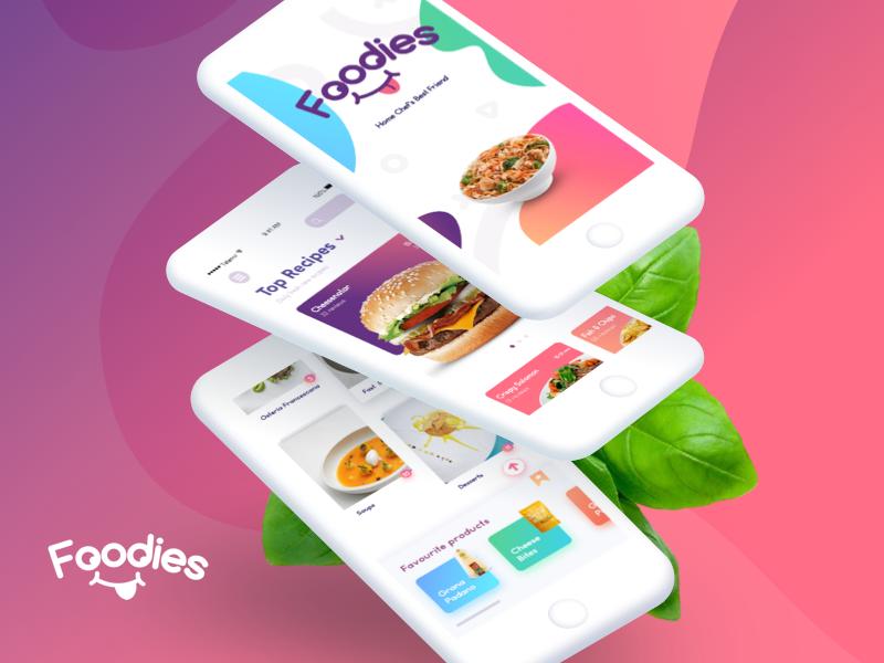 Foodies   App Design colors gradients dashboard food trendy select search ux ui application app