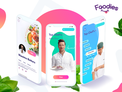 User profile | Foodies preview dashboard trend food appdesign gradient colorful app ui ux