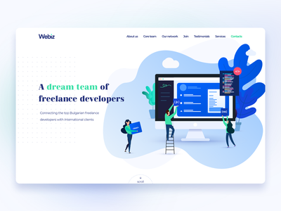 Webiz page exploration 2 :: Webdesign colorful color illustration web page website gradient webdesign landing ui