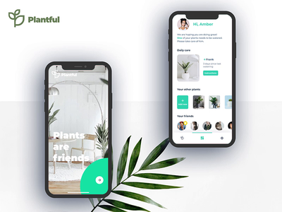 Plantful | App minimal android ios scaner motion plant interaction ui ux app