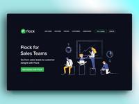 Illustration for Landing page : Sales team