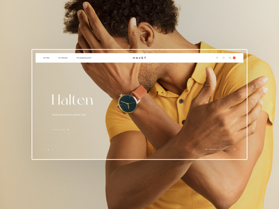 Havet Store - Watches & Accessories woman interface grid typography store concept minimal black white watches website ui fashion shop ux ecommerce