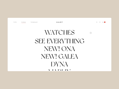 Havet Store - Category store watches animation white minimal interface website fashion ux ui ecommerce shop design