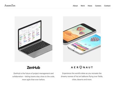Axiom Zen Website Redesign