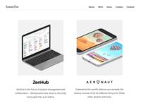 Axiom Zen Website Redesign agency startup ui ux ios iphone landing page landing web design web