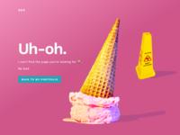 404 Uh-oh Portfolio Error Page