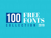 100 Best Free Fonts For 2019
