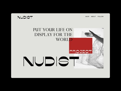 NUDIST — Web design design minimal website bags transparent typogaphy nudistproject nudist web lookstudio ui  ux webdesign logo branding