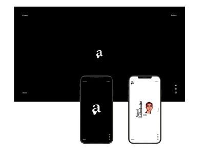 Agnė Labokaitė — Portfolio a logo typografy type design app design personal website black and white minimal website minimal branding minimal app logo logomark portfolio portfolio design ui  ux ui web branding app design app branding web design