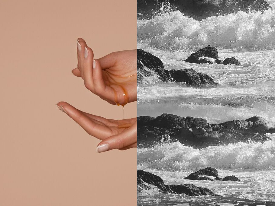 YOU & OIL — Visual design youandoil webdesign nails hands sea water rocks visualdesign ui  ux ui skin shop oil naturalcosmetics brand identity nature cosmetics branding blackandwhite beauty