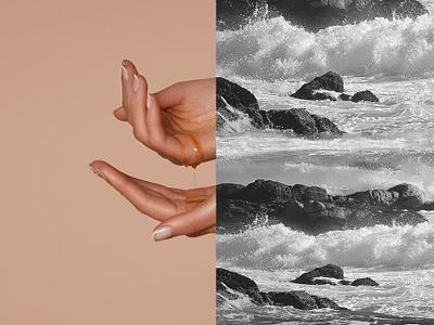 YOU & OIL — Visual design youandoil webdesign nails hands sea water rocks visualdesign ui  ux ui skin shop oil naturalcosmetics brand identity nature cosmetics branding blackandwhite beauty