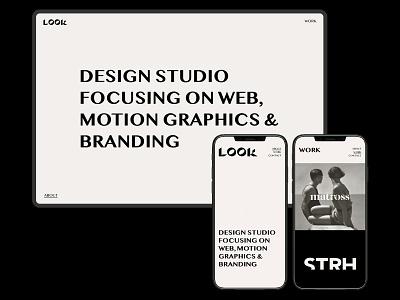 LOOK Studio — Web design art direction look studio look studio web syudio logo studio agency logo agency app design app ux uiux ui webdesign website web logo identity design brand identity branding