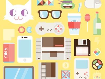 otros iconos hipsters