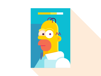 Homero simpsons homer geometric vector