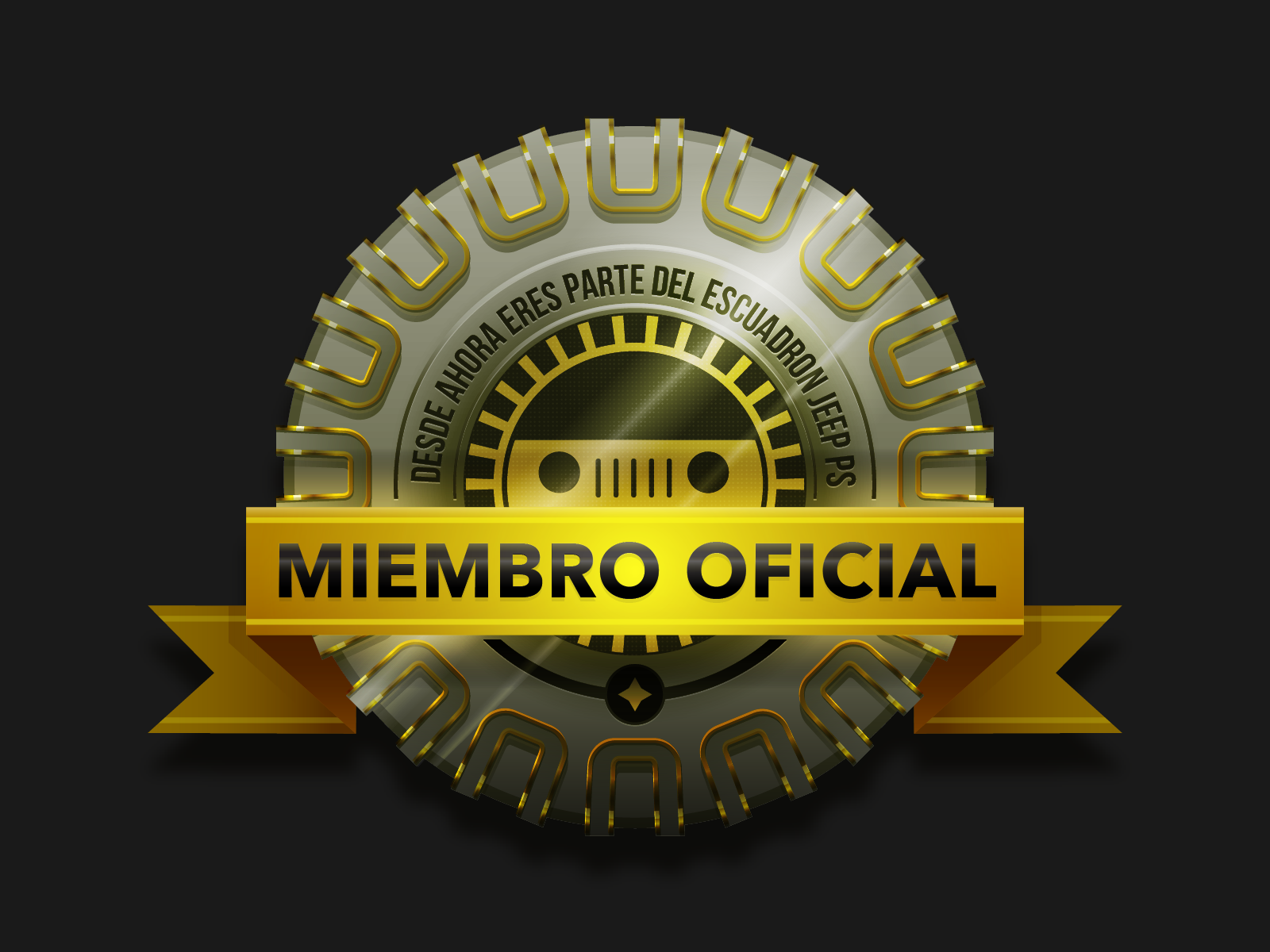 Jeep official member badge 2x