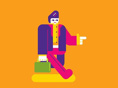 Hombre de Negocios business cute simple geometric persona vector