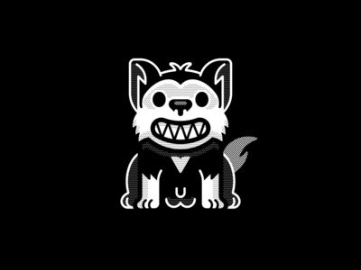 Husky inktober vectober dog loco illustration happy geometric vector