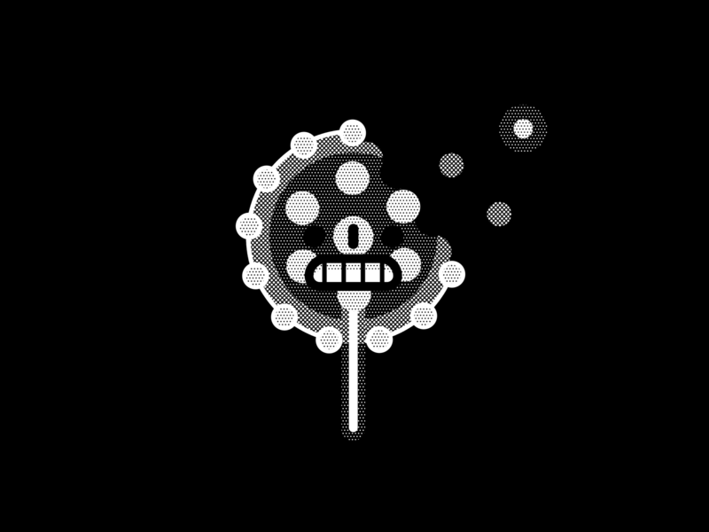Frail calavera helbetico black and white skull face vectober inktober frail geometric vector