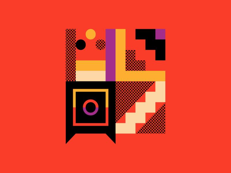 Salary Illustration (MVP proposals) orange safebox emirati geometric vector illustration uidesign ui icon