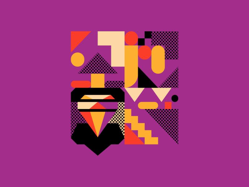 Lifestyle Illustration (MVP proposals) orange purple emirati icons ui lifestyle diamond geometric vector