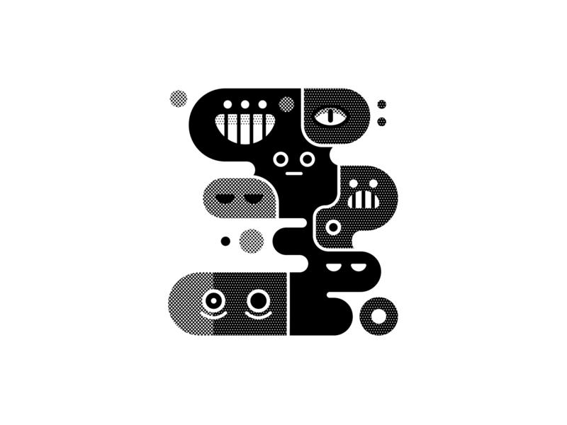 Dark vectober2019 blackandwhite pattern texture geometric vector