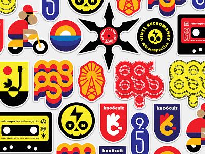 Megapolis FM stickers vynil logo scull music radio stickers