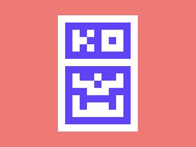 KO hangtag logo skeleton scull hangtag mark ko