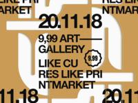 Stencil print market poster