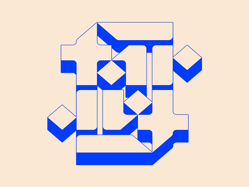 Far-far typography type isometric