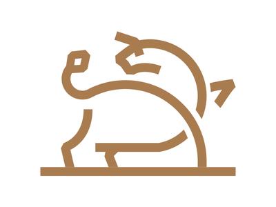 Bull taurus logo minimal line bull