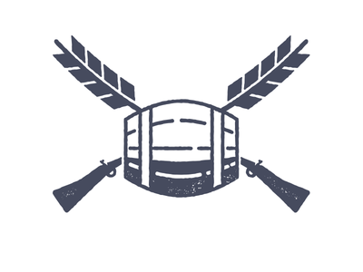 Brewery logo exploration brewery beer musket barrel wheat