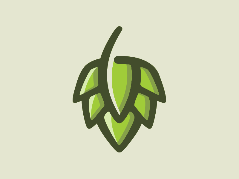 Beer Hop leaf beer hop