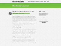 Chartboost blog redesign idea
