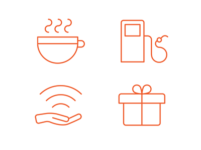 Karma Icons icons outline simple minimalist clear wifi coffee gift