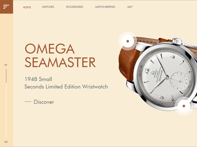 Product Landing Watch Small product concept product landing landing page visual design website