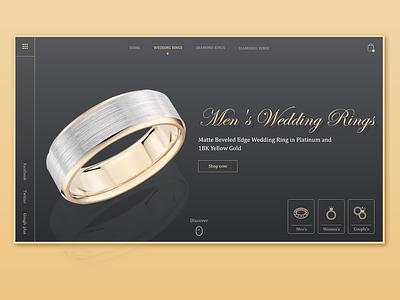 Wedding Ring website concept wedding ring landing page visual design website
