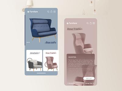 Furniture Mobile UI design buy furniture app furniture mobile ui
