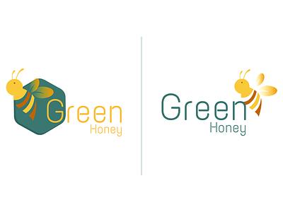 Honey Logo bee logo honey branding logo