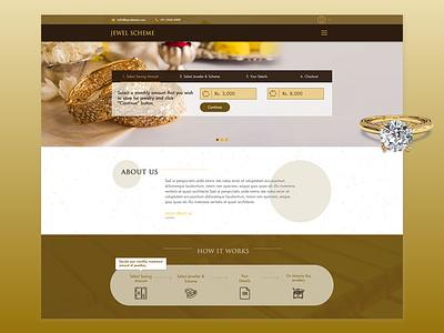 Jewel scheme jewellery buy adobe xd landing page website