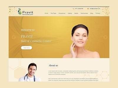 Pravit Skin Care adobe xd visual design landing page website