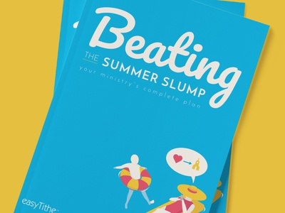 Beating the Summer Slump eBook Cover ebook vector layout flat digital illustration design illustration