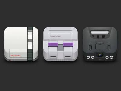 Nintendo Icons nintendo app icon iphone nes snes n64 console