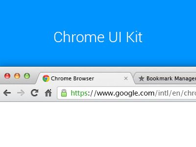 Chrome UI Kit v.2 chrome ui kit psd template browser