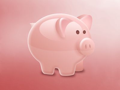 Vector Piggy illustration vector pig farm animal icon