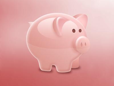 Vector Piggy illustration vector pig farm animal icon