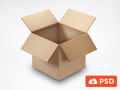 Cardboard Box cardboard box free psd resource freebie download