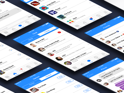 iOS Gaming App ios gaming app chat messaging concept