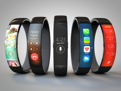 iWatch Concept iwatch concept apple ios ui 3d rendering wearable