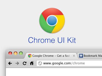Chrome UI Kit chrome ui kit browser window free resource psd