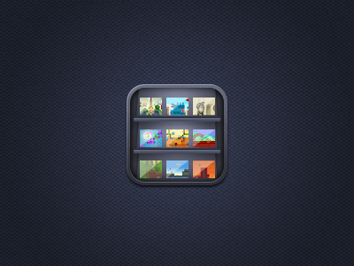 Icon for new Joypad project app icon ipad shelves shelf games joypad iphone
